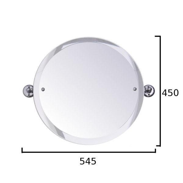 Haga spegel rund med mått