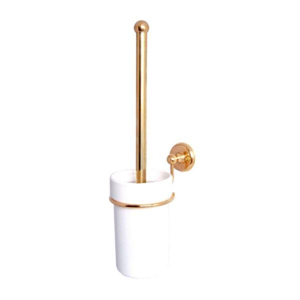 Haga vägghängd toalettborste mässing