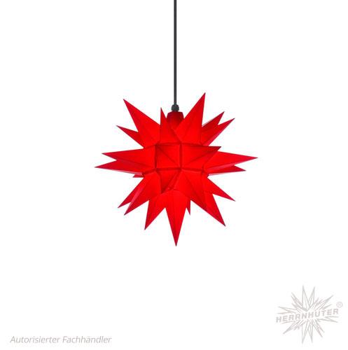 liten julstjärna röd plast