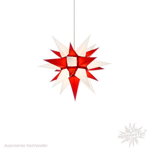 pappersstjärna röd/vit 40 cm