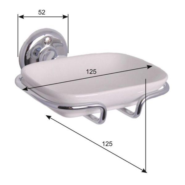 Mått Haga tvålkopp för badrum